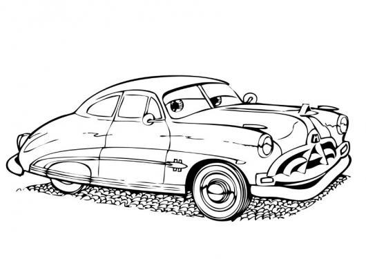 Pintar el carro viejo de cars  COLOREAR CARROS  Dibujo para