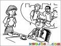 Dibujo De Un Jefe Contando Una Historia De Su Juventud A Su Secretaria Para Pintar Y Colorear