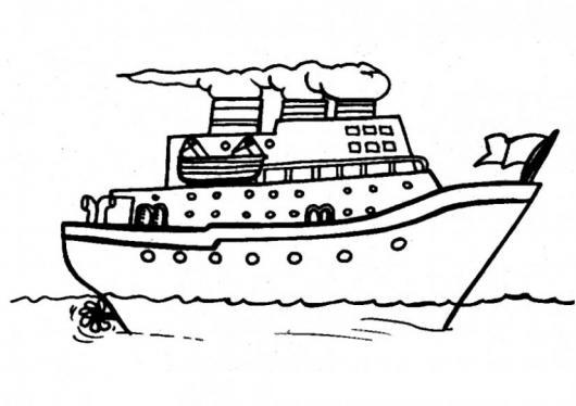 Dibujo De Un Barco En El Mar Para Pintar Y Colorear Colorear Dibujos Varios Dibujo De Un Barco En El Mar Para Pintar Y Colorear Dibujosa Com