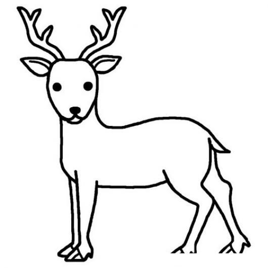 Dibujo de un reno para pintar y colorear colorear - Renos para dibujar ...