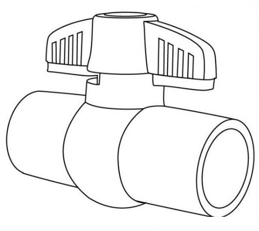 Valvula pvc dibujo de una llave de paso plastica para for Llave tubo para valvula de ducha
