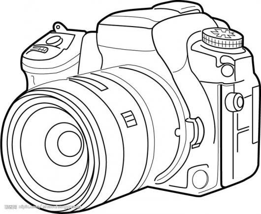 Dibujo De Camara De Fotos Profesional Para Pintar Y Colorear ...