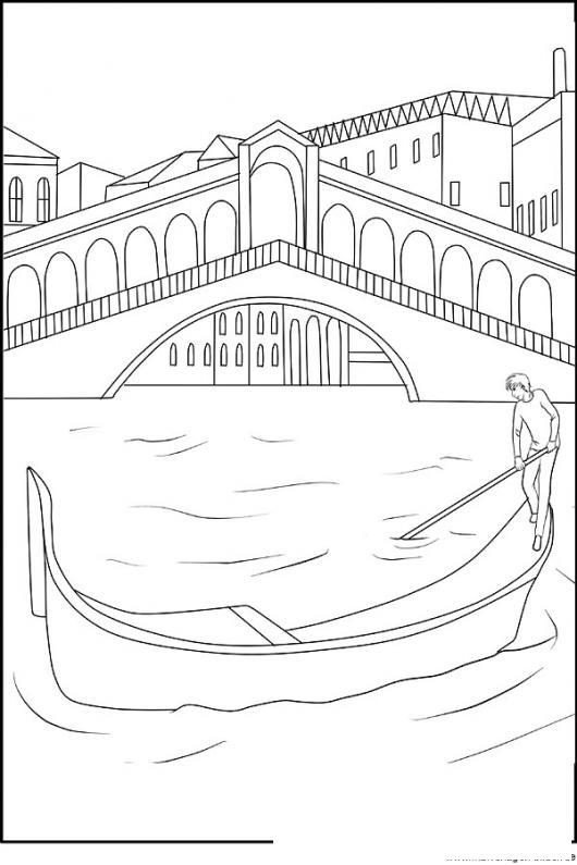 Dibujo Del Rio De Venecia Para Pintar Y Colorear   COLOREAR
