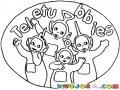 Colorear A Los Teletubbies