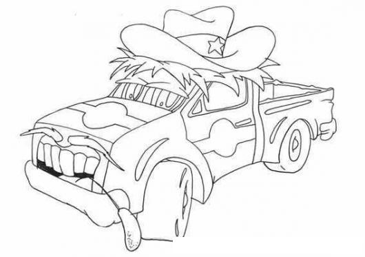 Dibujo De Pickup Sheriff Para Pintar Y Colorear Picop Country ...