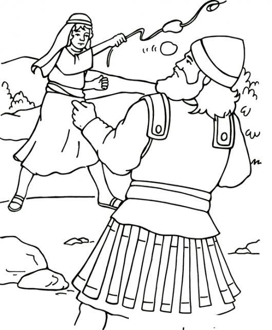 Dibujo De David Y Goliat Para Colorear Y Pintar | COLOREAR DIBUJOS ...