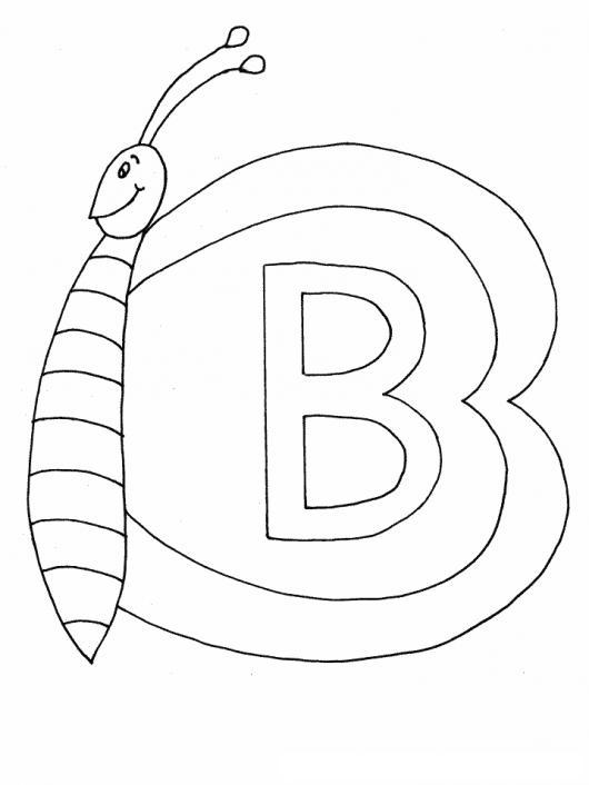 Letra B Dibujo De La Letra Be Para Pintar Y Colorear  COLOREAR