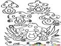 Hongos Felices Dibujo De 9 Hongitos Para Pintar Y Colorear