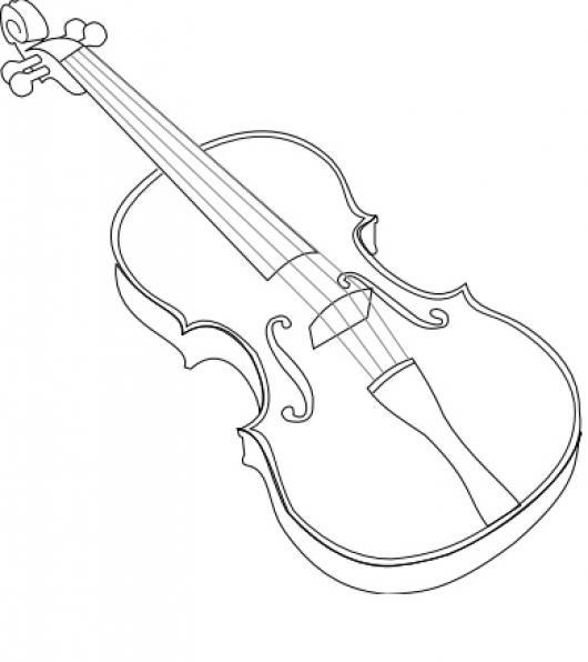 Dibujo De Un Violin Para Colorear Y Pintar  COLOREAR ...
