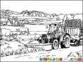 Dibujo De Tractor En Finca Para Pintar Y Colorear