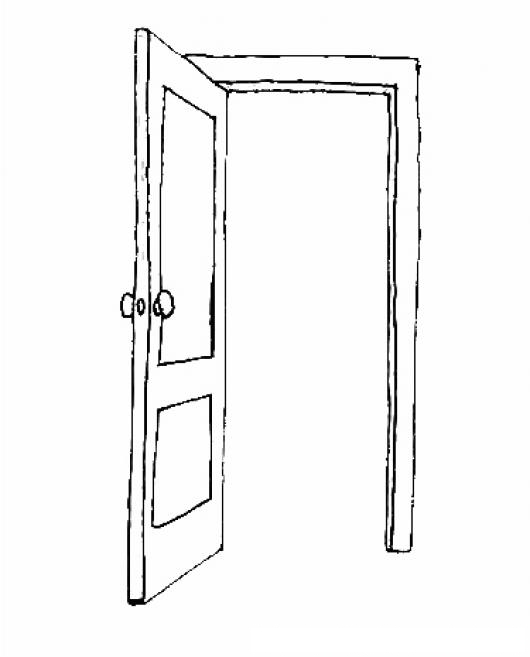 Puertaabierta Dibujo De Puerta Abierta Para Pintar Y