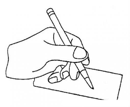 Mano Zurda Dibujo De Mano Izquierda Escribiendo Con Un ...