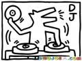 Djperro Dibujo De Dj Perro Para Pintar Y Colorear Chucho Disk Jockey