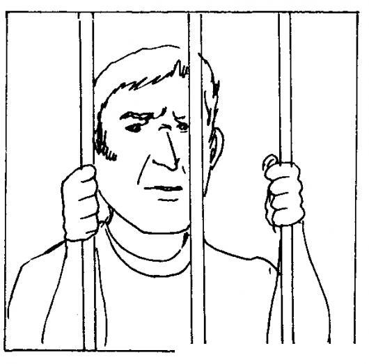 Dibujo De Un Preso Para Pintar Y Colorear Prisionero En