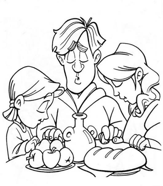 Worksheet. Dibujo De Familia Orando Por Los Alimentos Para Pintar Y Colorear