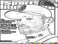 Ichirosuzuki Dibujo Del Beisbolista Ichiro Suzuki En La Revistar Sports Illustrated Para Pintar Y Colorear