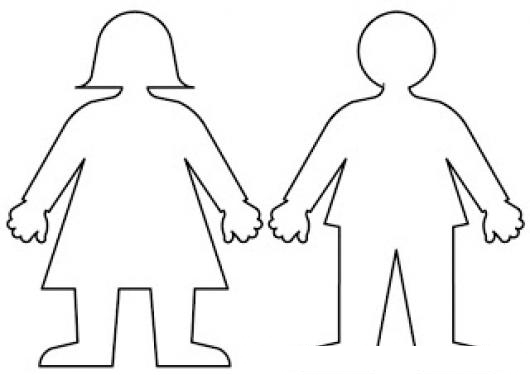 Dibujo De La Figura De Una Mama Y De Un Papa Para Pintar Y
