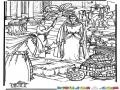 Dibujo De La Reina De Saba Para Pintar Y Colorear Reynadesaba