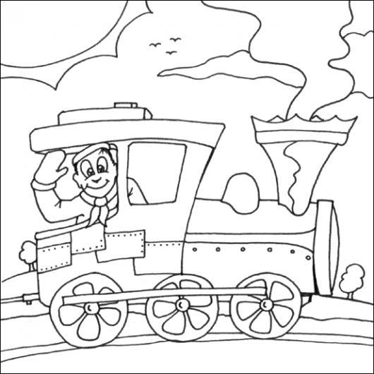 Colorear Maquinista De Tren Colorear Dibujos Varios Colorear