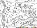 Dibujo De Un Cumpleanos Con Dora Para Colorear