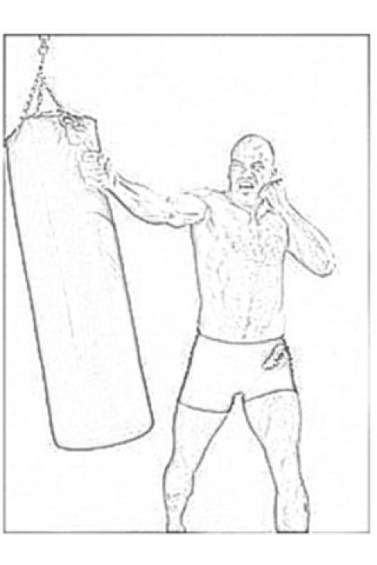 BasRutten El Guapo Dibujo para Colorer Al Peleador De Kick Boxing