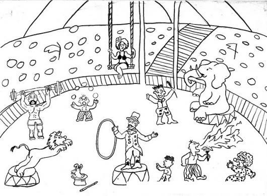 Personajes Del Circo Para Colorear | COLOREAR DIBUJOS DE CHOLO