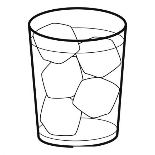 colorear vaso con hielo