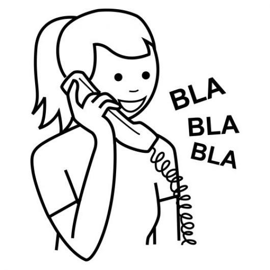 Colorear Mujer Hablando Por Telefono   COLOREAR DIBUJOS DE CHOLO ...