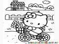 hello kitty en bicicleta