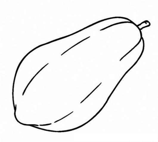 papaya fruit clipart black and white - photo #42