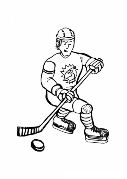 Moderno Hockey Para Colorear Páginas Nhl Componente - Ideas Para ...
