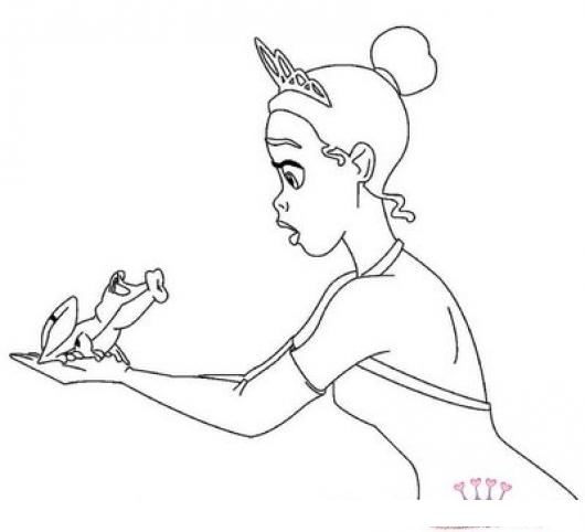 Dibujo De Una Rana Besando A Una Princesa  COLOREAR DIBUJOS DE