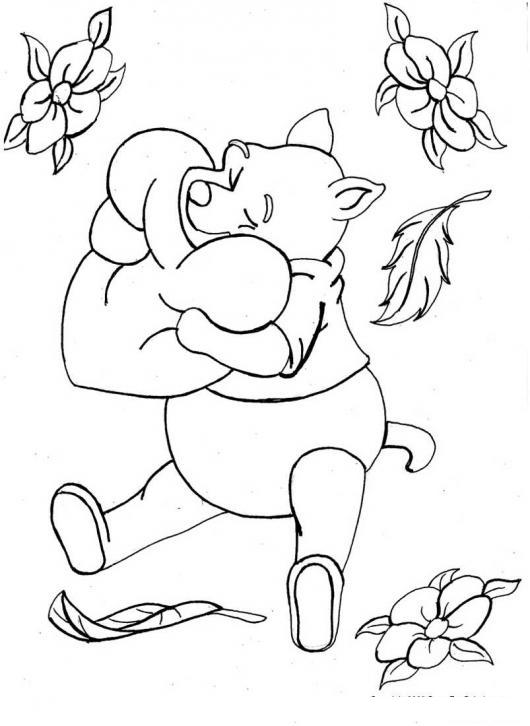 Winnie Pooh abrazando un corazon   COLOREAR WINNIE POOH   winnie ...
