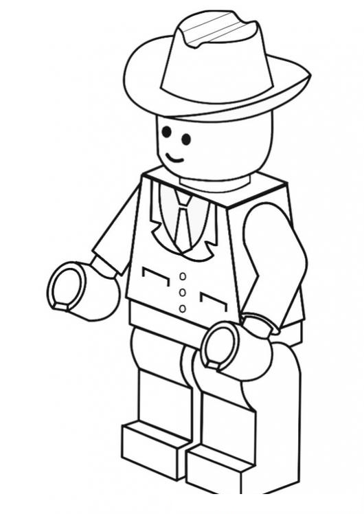 More complex LEGO figure colouring sheet | Lego 1st Birthday ...