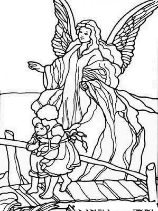 Angel De La Guardia Para Colorear Y Pintar   COLOREAR DIBUJOS DE ...