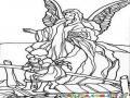 Angel De La Guardia Para Colorear Y Pintar