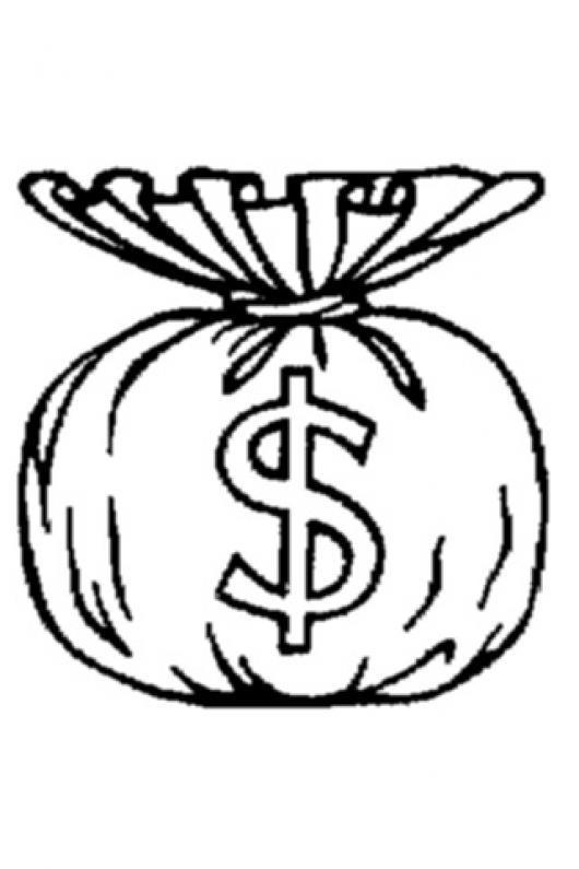 Bolsa de dinero para colorear y pintar colorear dibujos - Bolsas para pintar ...