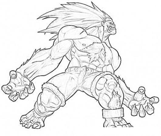 Street Fighter Free Coloring Pages