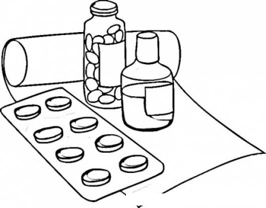 Free Coloring Pages Of Medicamentos De Medicinas