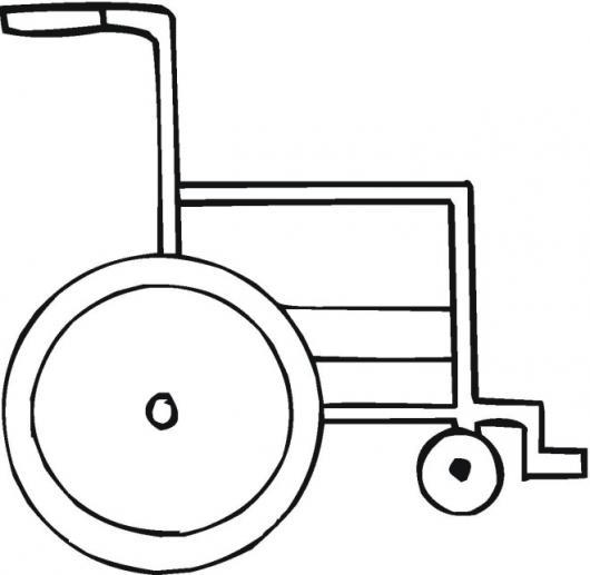 Silla de ruedas para pintar y colorear colorear dibujos for Silla para dibujar