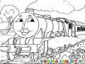 Tren Thomas Para Colorear Y Pintar