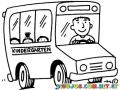 Kindegarten Bus Coloring Page