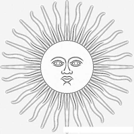 Escudo De Argentina Para Colorear Y Pintar Sol De Mayo De La ...