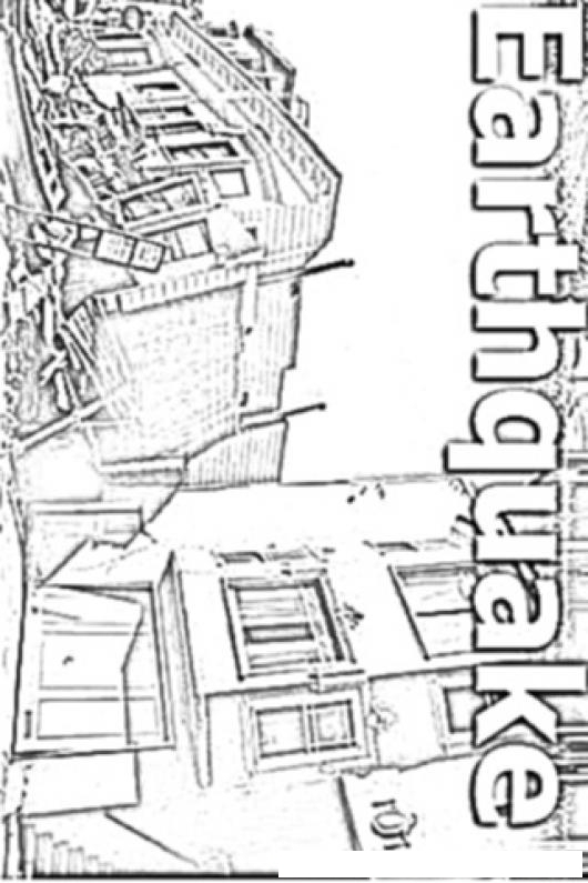 Earthquake Today Coloring Page Dibujo De Terremoto Para Colorear