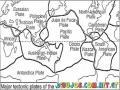 Tectonics Plates Coloring Page Platas Tecnonicas Del Mundo Para Colorear