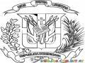 Colorear Escudo De Republica Dominicana Dios Patria Libertad