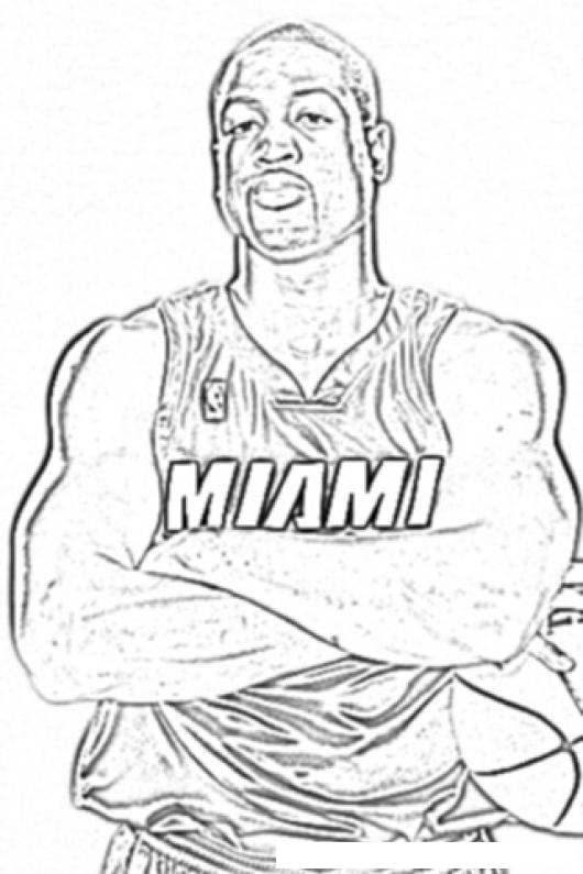 lebron james coloring page - photo #45