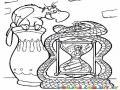 Colorear A Aladino En El Reloj De Arena