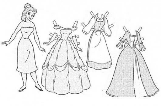 Pantera Rosa Da Colorare: Vestidos De Princesa Para Colorear Y Recortar
