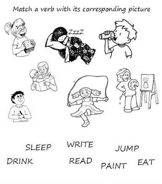 Verbos En Inglés Dibujos Para Colorear Imagui